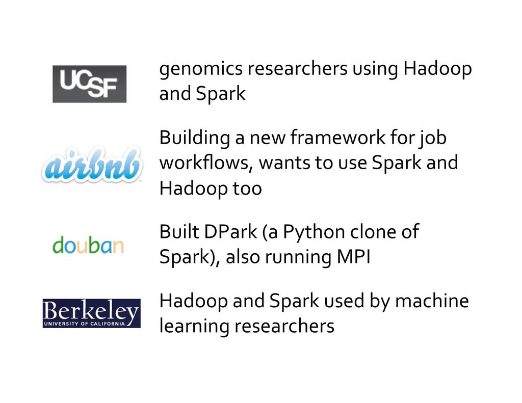 genomics researchers using Hadoop  ...