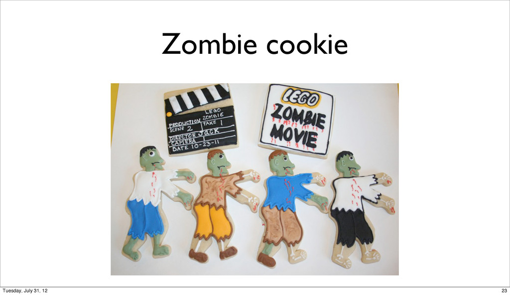 Zombie cookie 23 Tuesday, July 31, 12