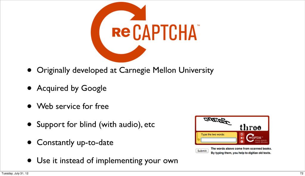 • Originally developed at Carnegie Mellon Unive...