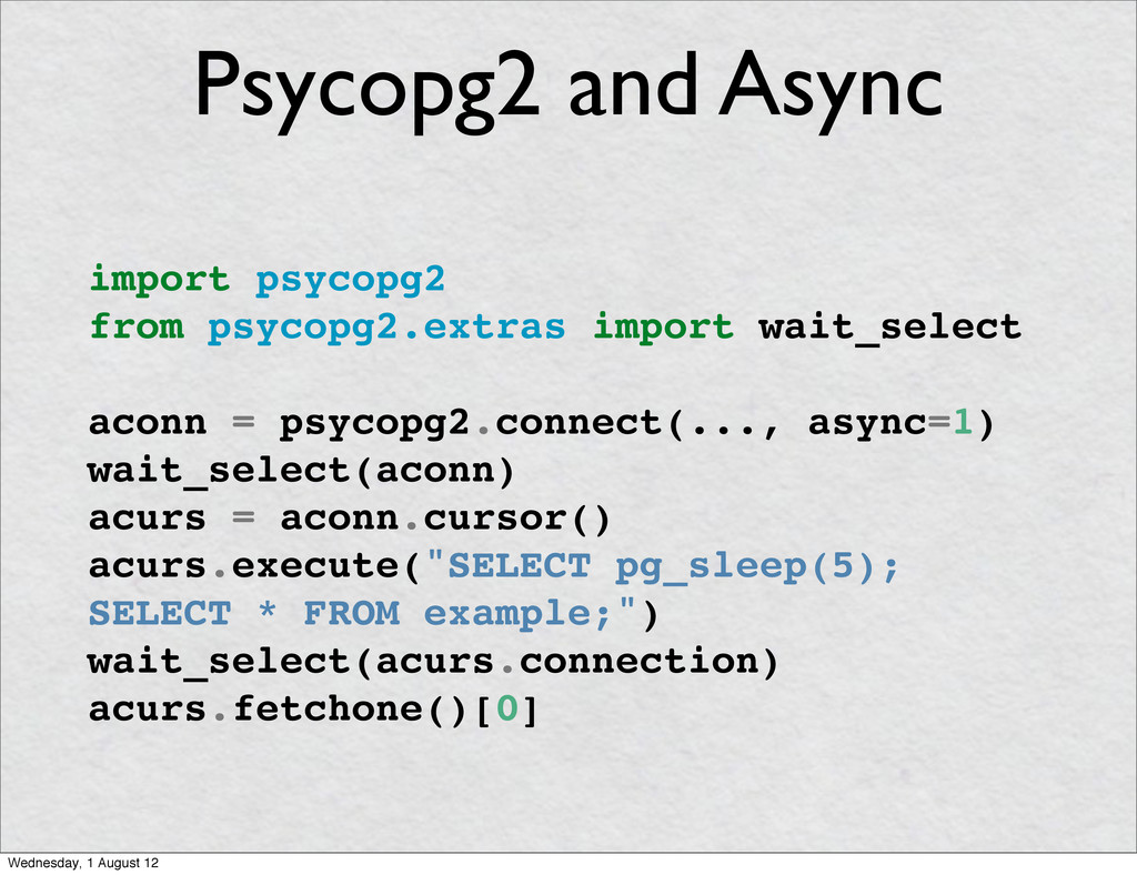 import psycopg2 from psycopg2.extras import wai...