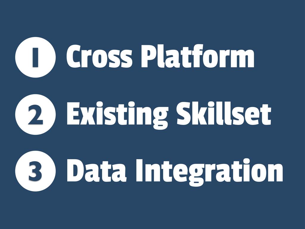 1 2 3 Cross Platform Existing Skillset Data Int...