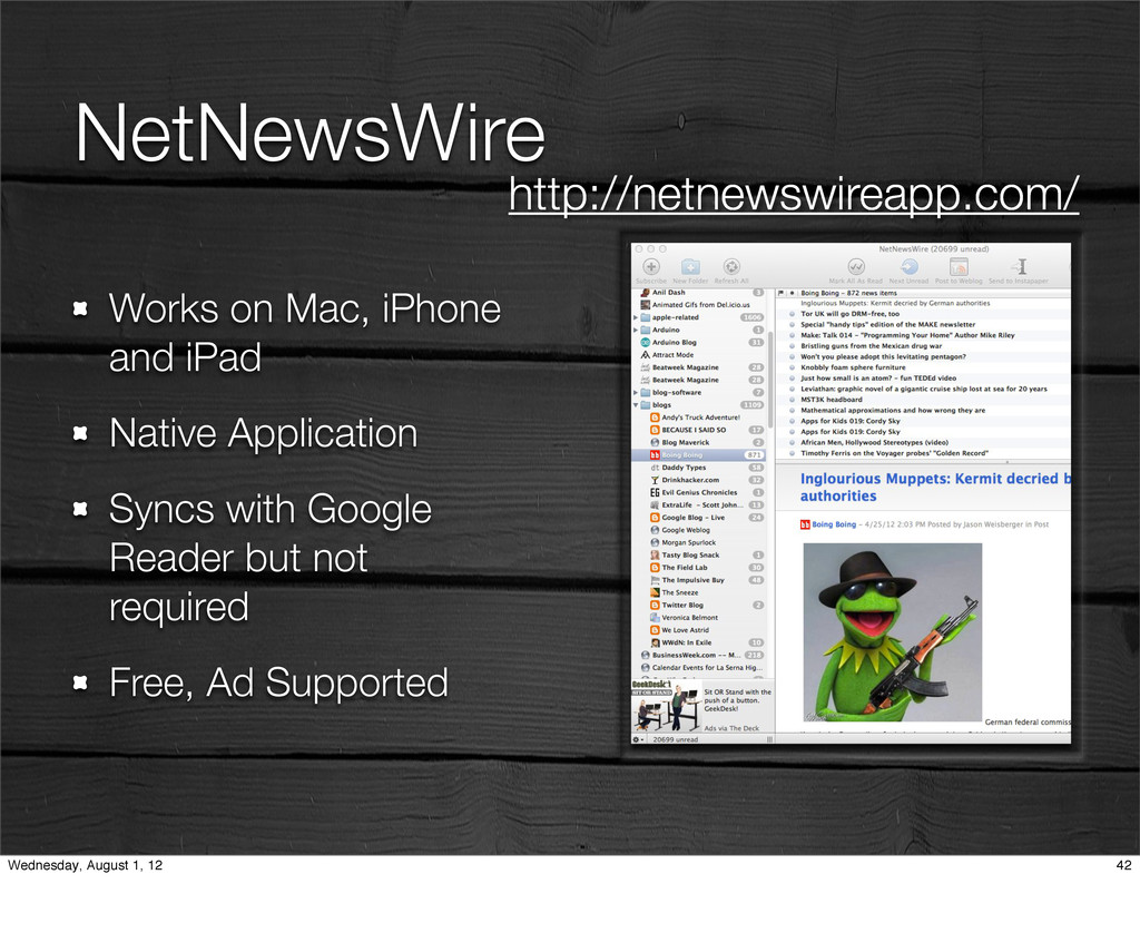 NetNewsWire Works on Mac, iPhone and iPad Nativ...