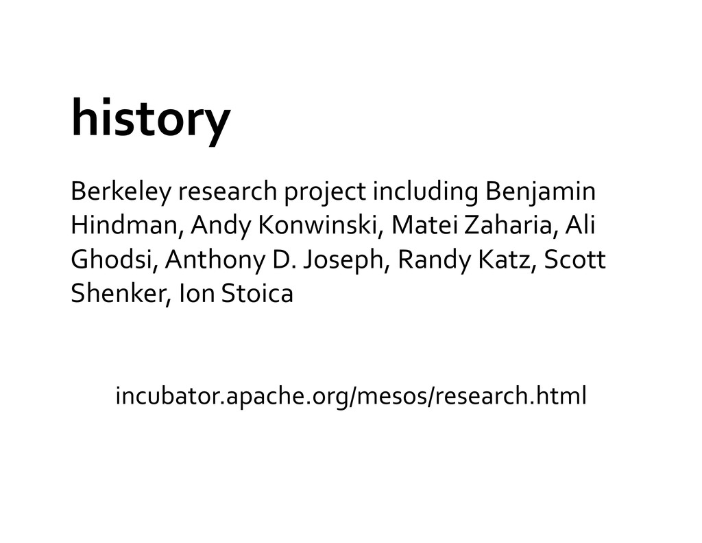 history  Berkeley research project ...