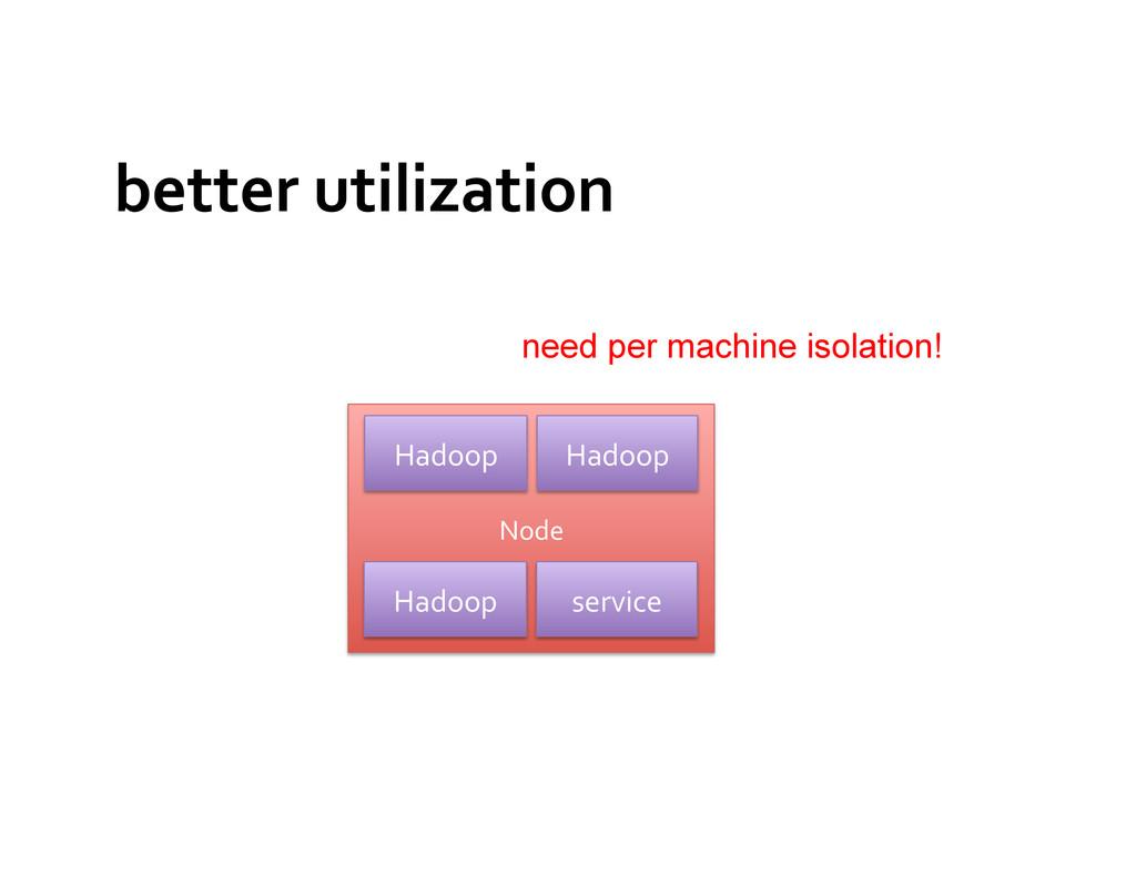 better utilization  Node  Hadoop  s...