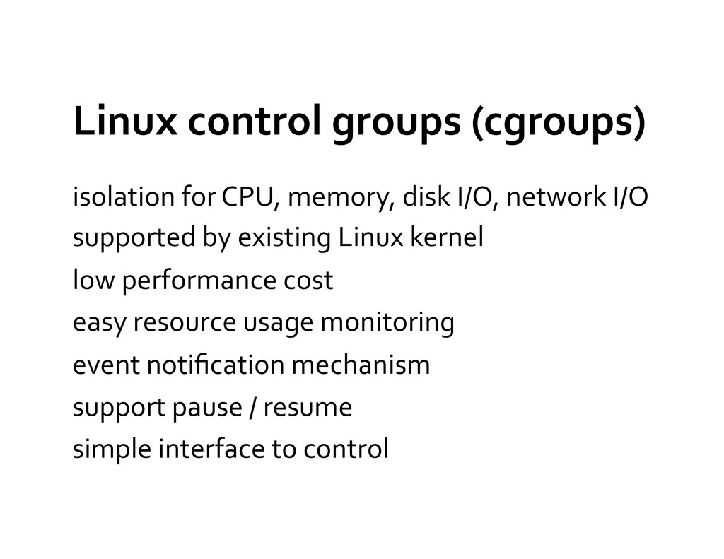 Linux control groups (cgroups)  iso...