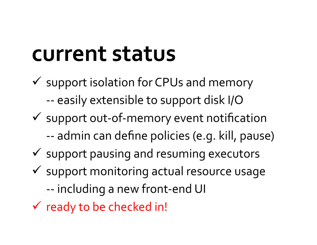 current status   support isolation...