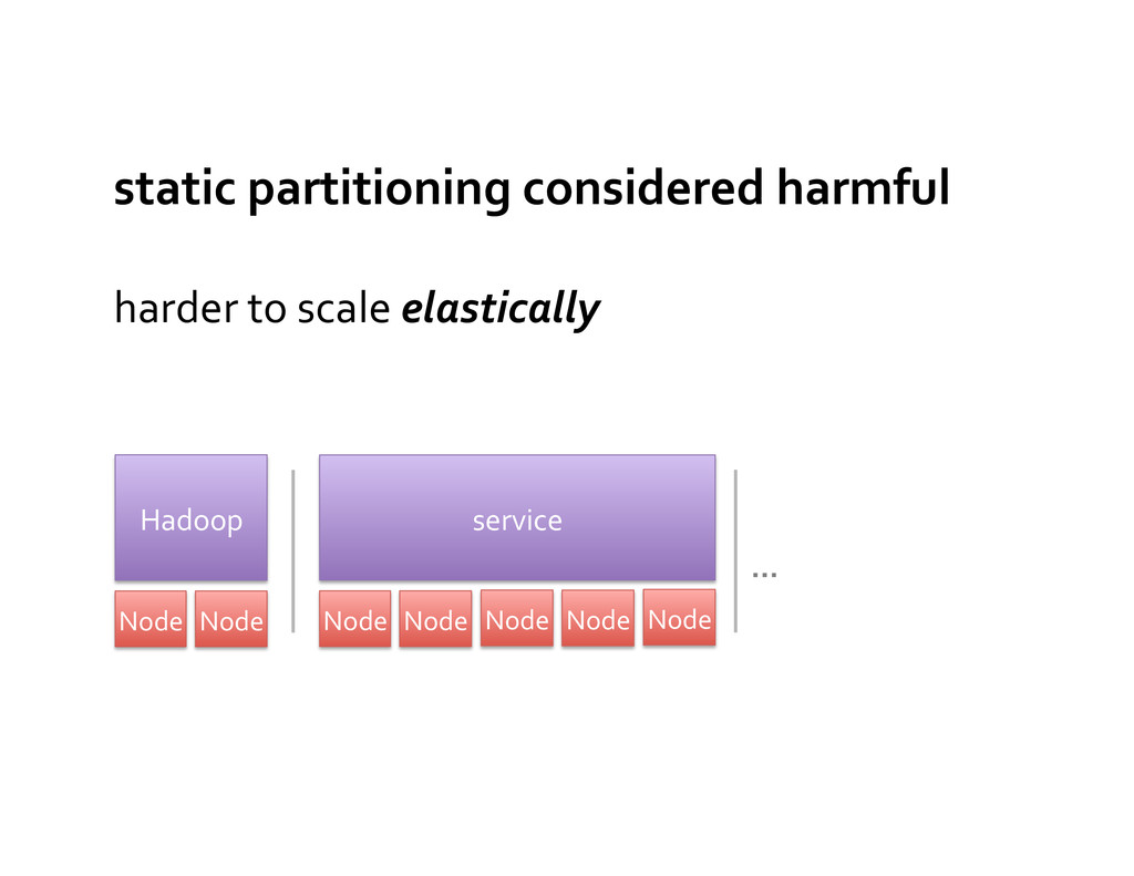 harder to scale elastically  static...