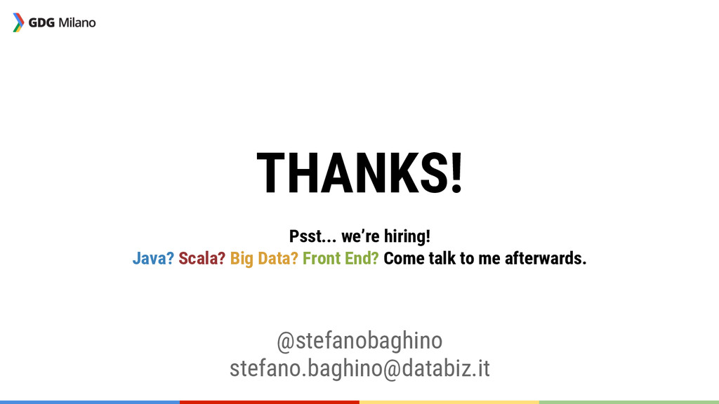 THANKS!  Psst... we're hiring! Java? Scala? ...