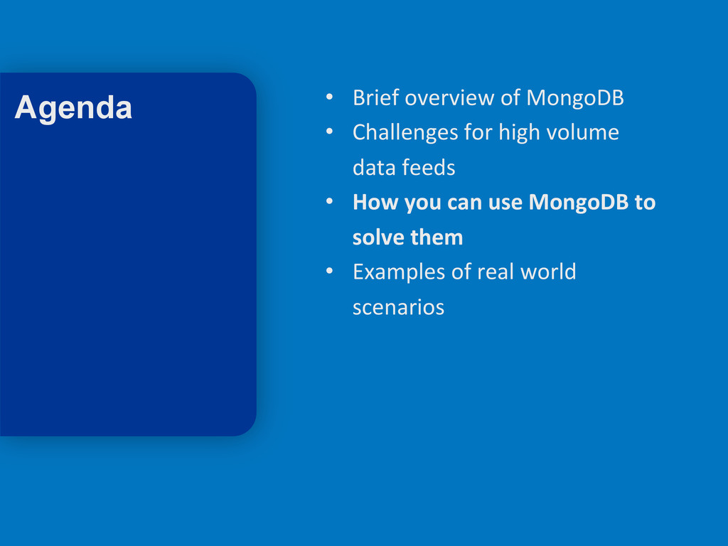 15 • Brief overview of MongoDB  ...