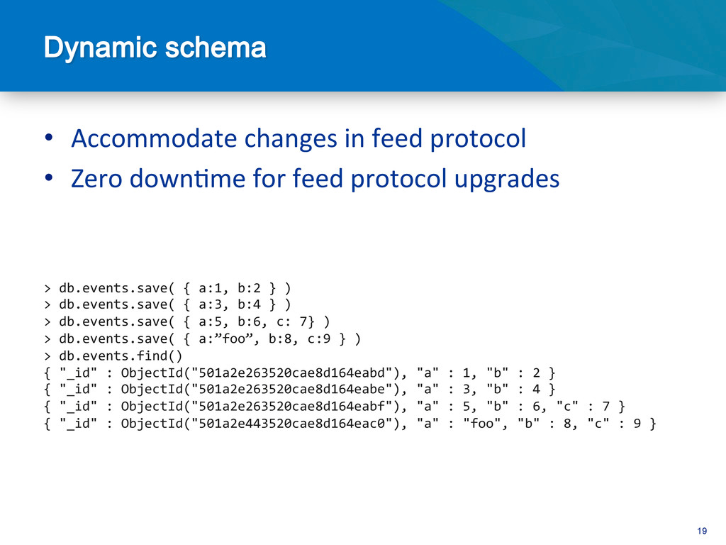 19 • Accommodate changes in feed p...