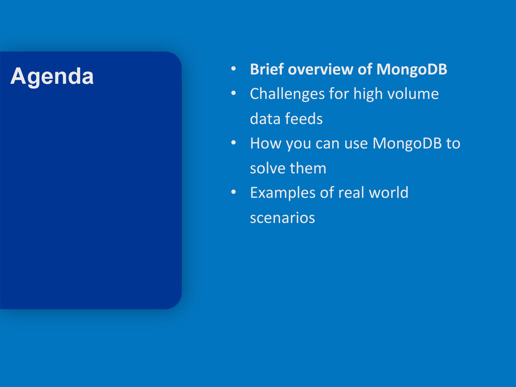 3 • Brief overview of MongoDB  ...