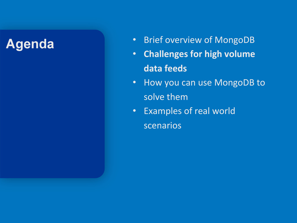 9 • Brief overview of MongoDB  ...
