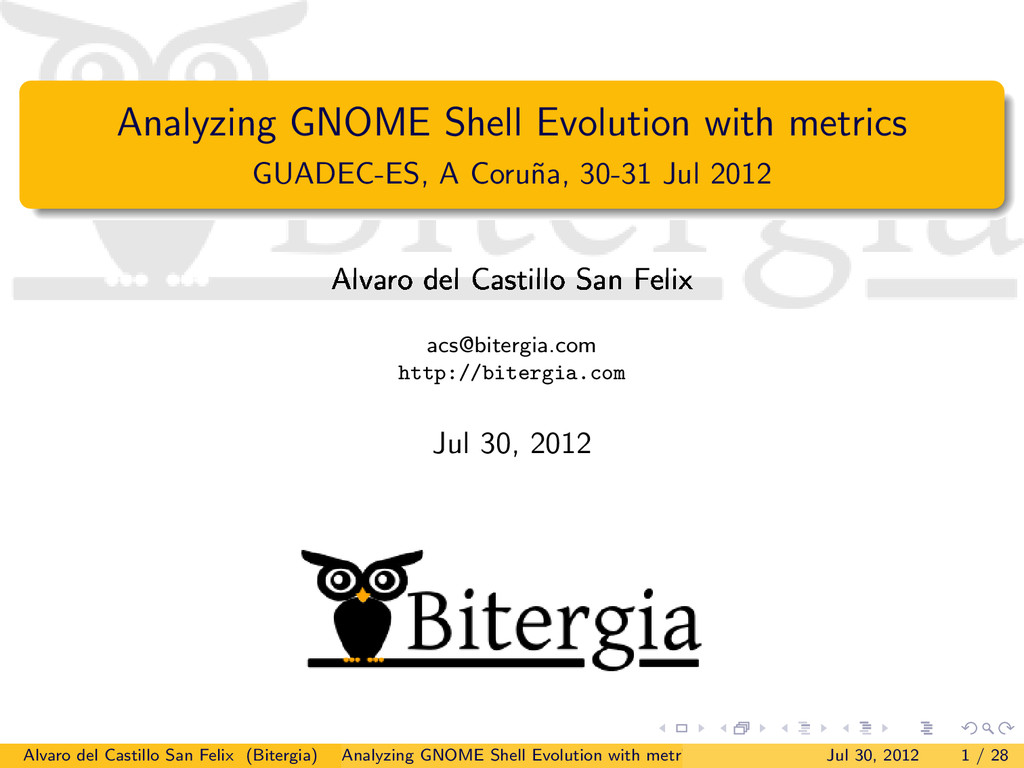 Analyzing GNOME Shell Evolution with metrics GU...