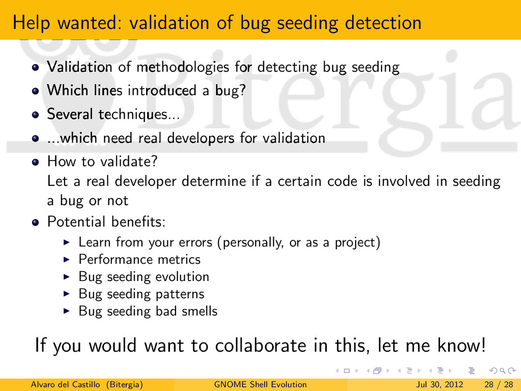 Help wanted: validation of bug seeding detectio...