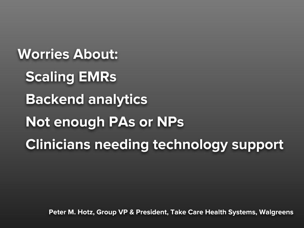 Worries About: Scaling EMRs Backend analytics N...