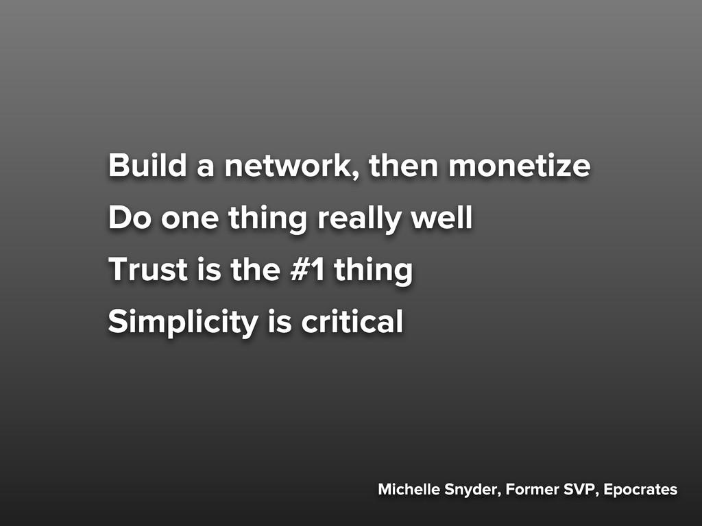 Michelle Snyder, Former SVP, Epocrates Build a ...