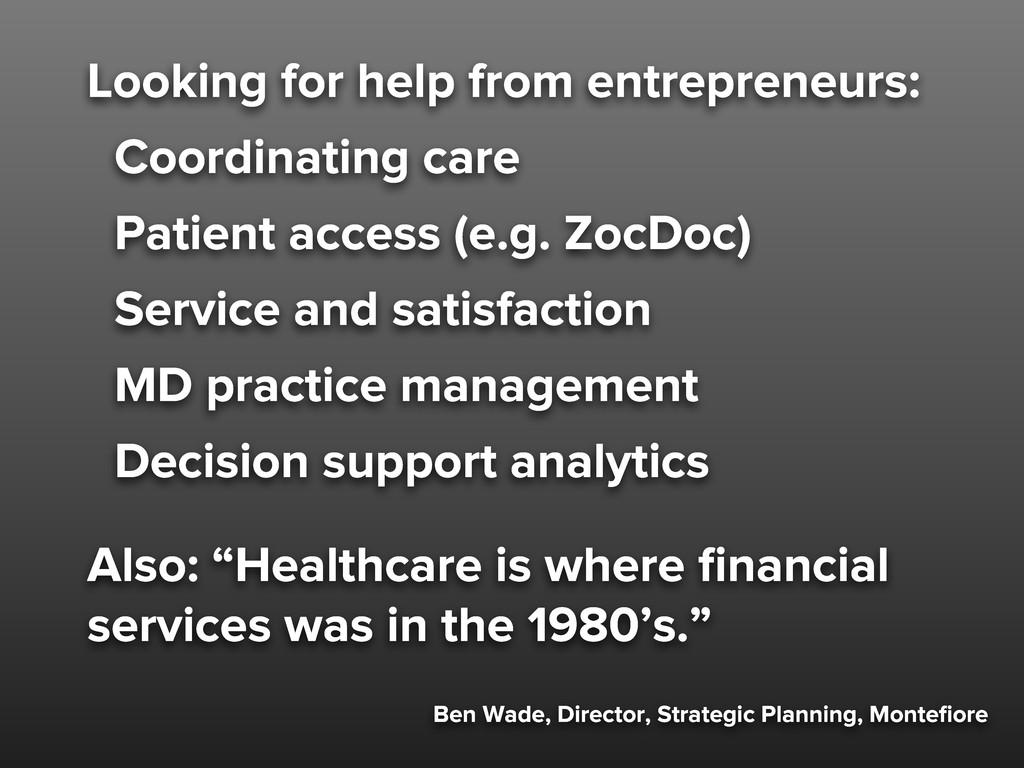 Ben Wade, Director, Strategic Planning, Montefio...