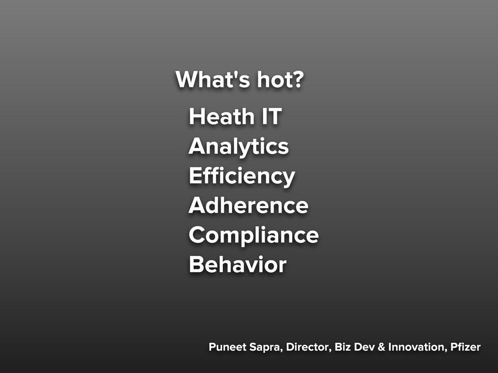 Puneet Sapra, Director, Biz Dev & Innovation, P...