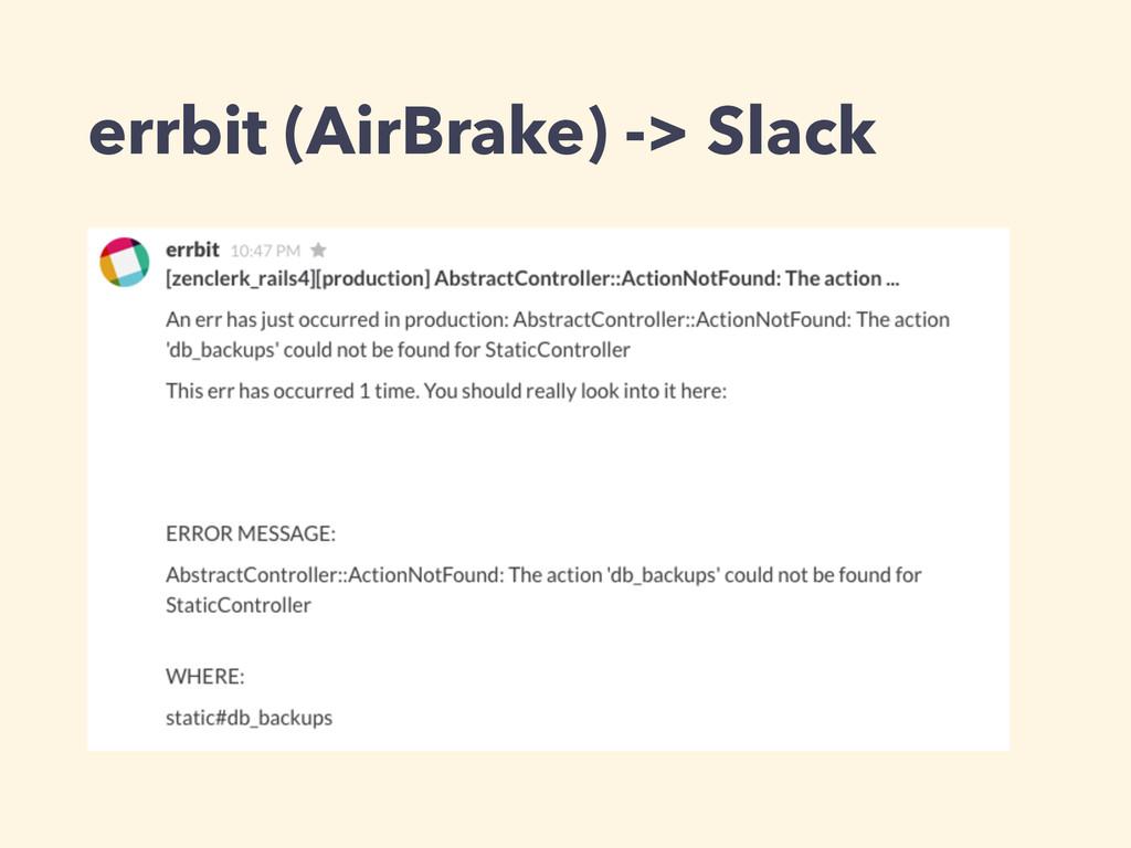 errbit (AirBrake) -> Slack