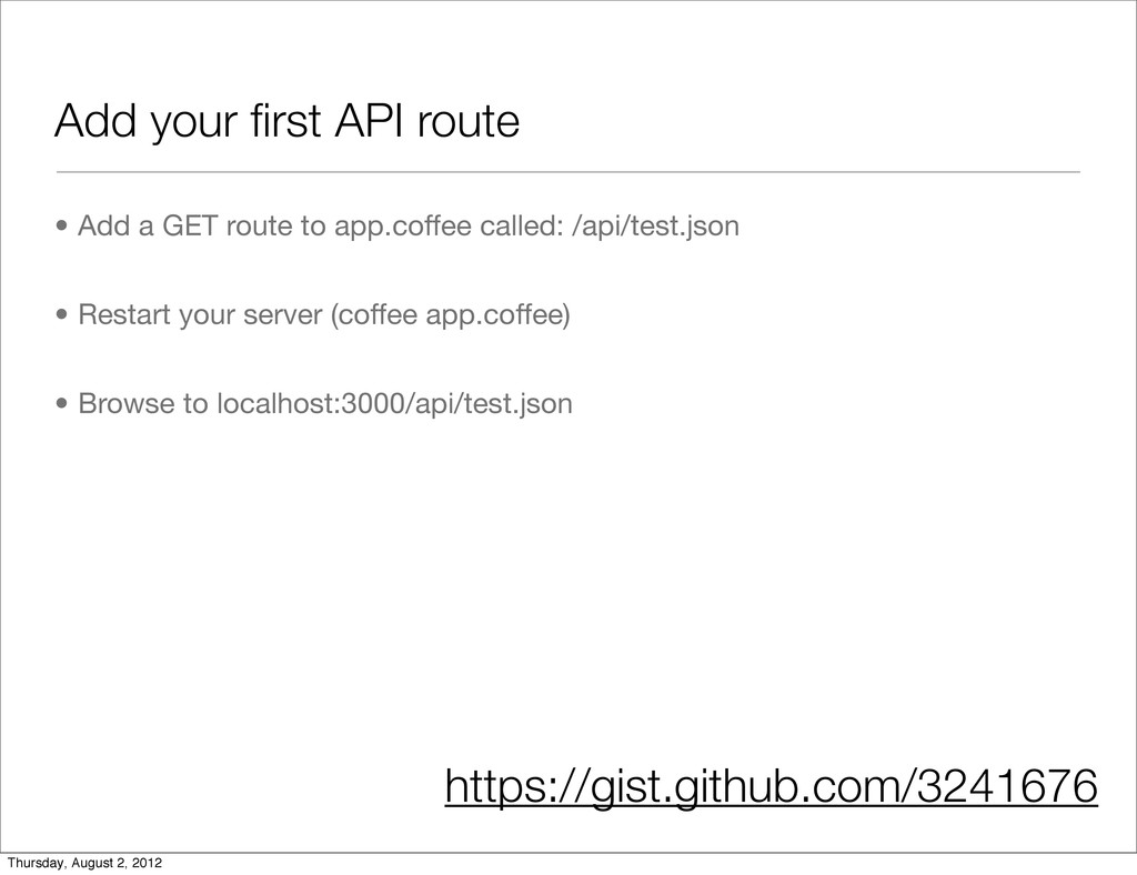 Add your first API route • Add a GET route to ap...
