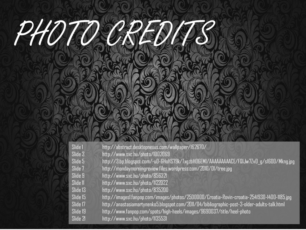 PHOTO CREDITS Slide 1 http://abstract.desktopne...