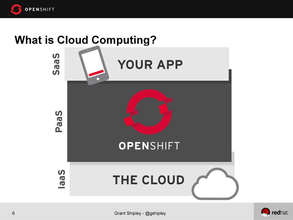 Grant Shipley - @gshipley 6 What is Cloud Compu...