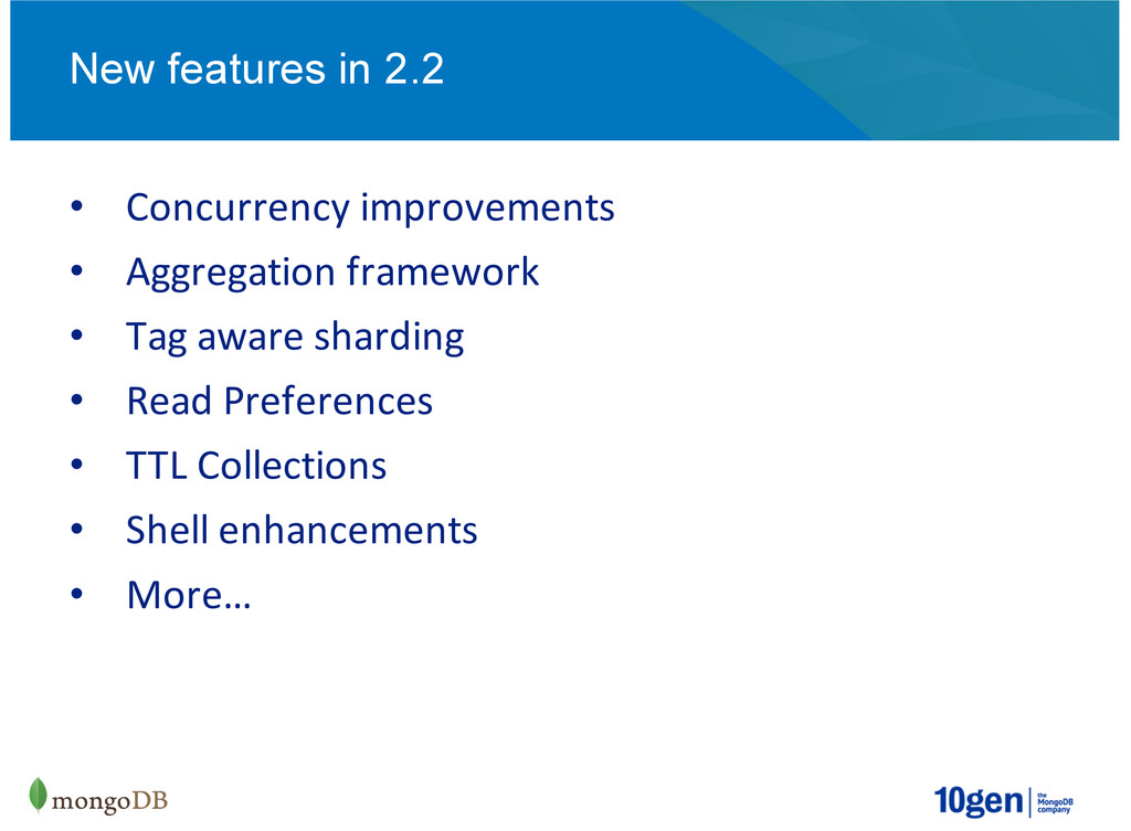 Concurrency)improvements Aggregation)framework ...