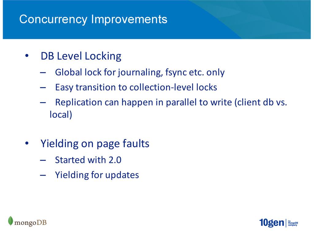 DB#Level#Locking Global#lock#for#journaling,#fs...