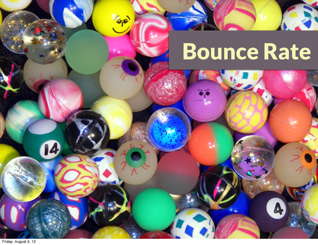 Bounce Rate Friday, August 3, 12