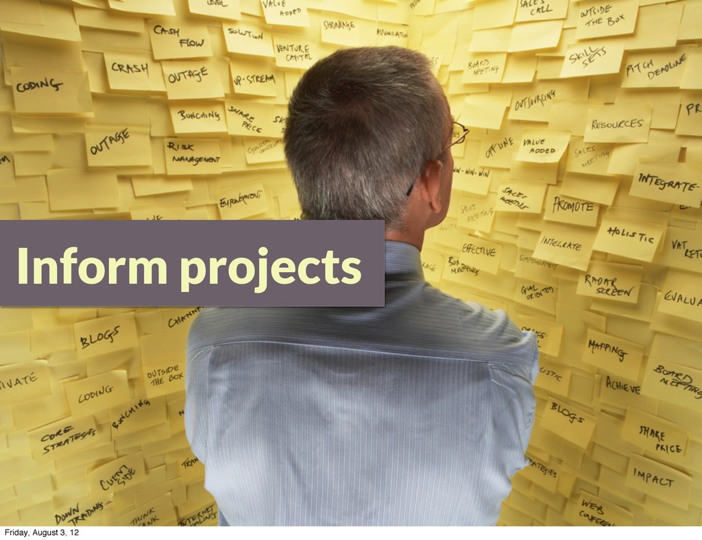 Inform projects Friday, August 3, 12
