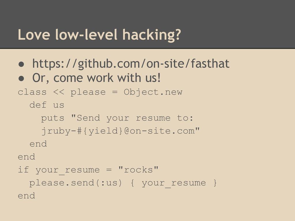 Love low-level hacking? ● https://github.com/on...