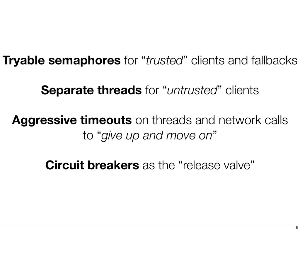 """Tryable semaphores for """"trusted"""" clients and fa..."""