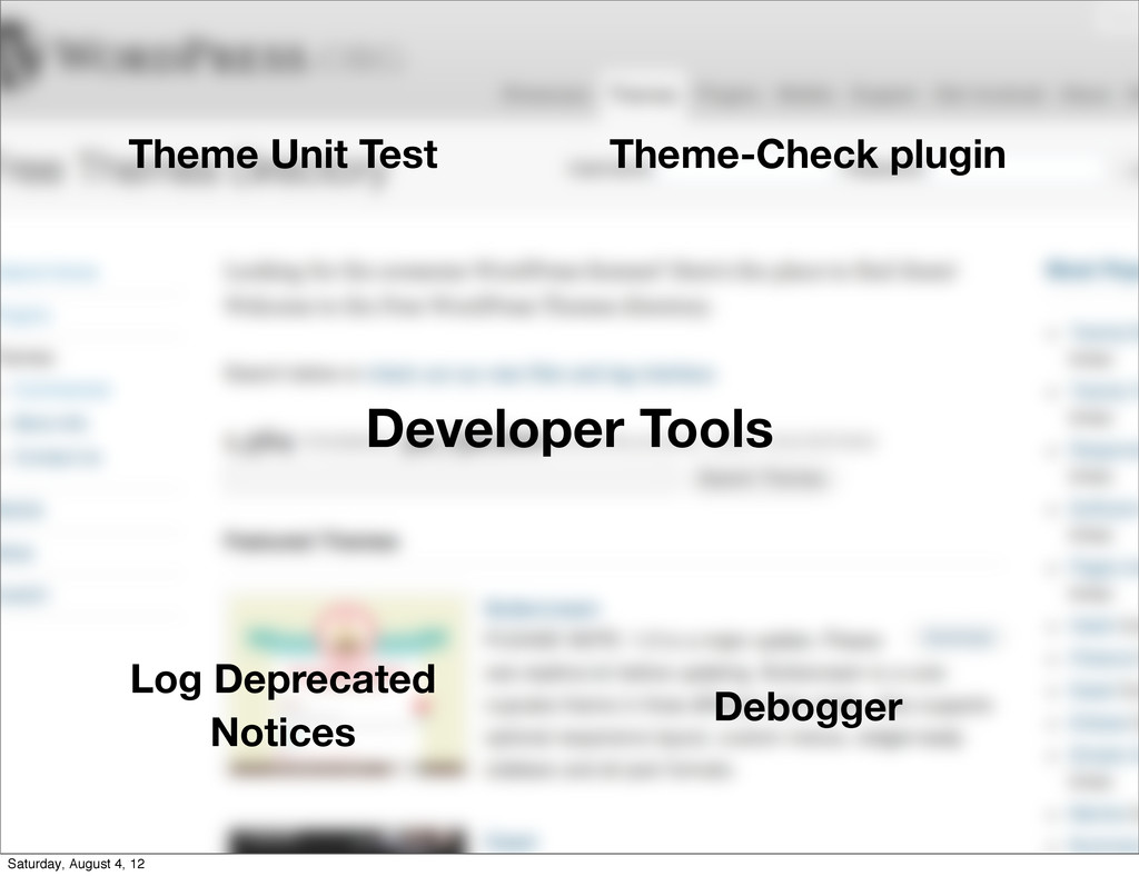 Developer Tools Theme Unit Test Theme-Check plu...