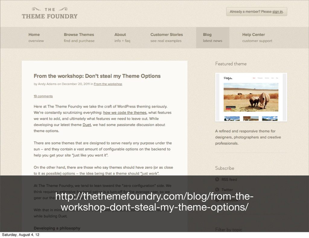 http://thethemefoundry.com/blog/from-the- works...