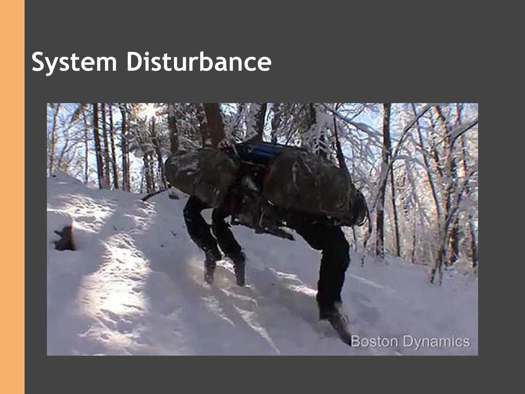 System Disturbance