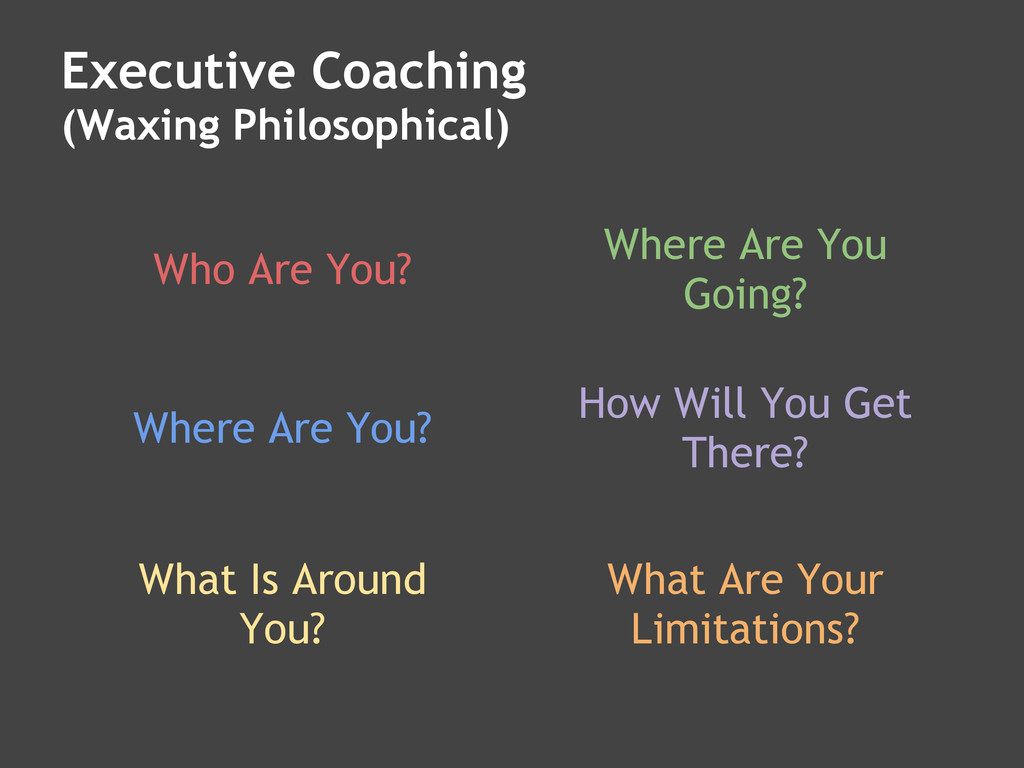 Executive Coaching (Waxing Philosophical) Who A...
