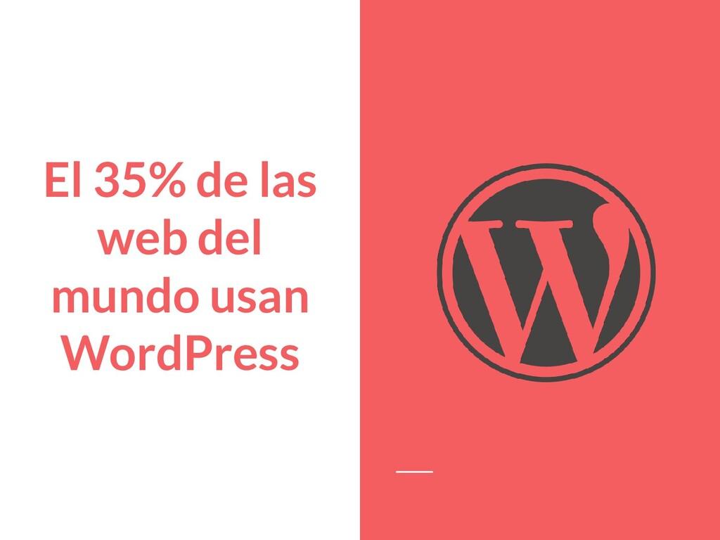 El 35% de las web del mundo usan WordPress