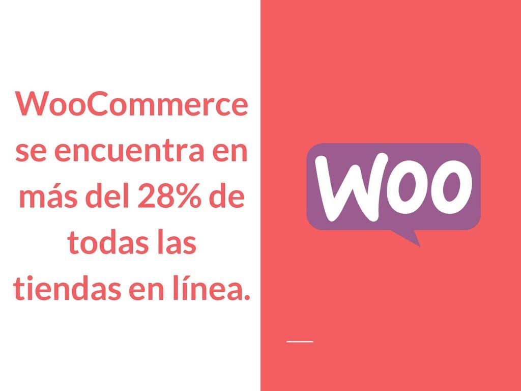 WooCommerce se encuentra en más del 28% de toda...