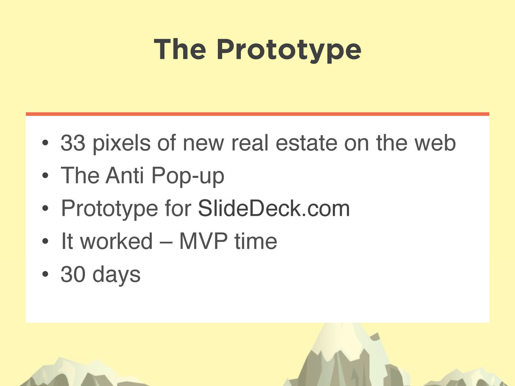 The Prototype • 33 pixels of new real estate o...