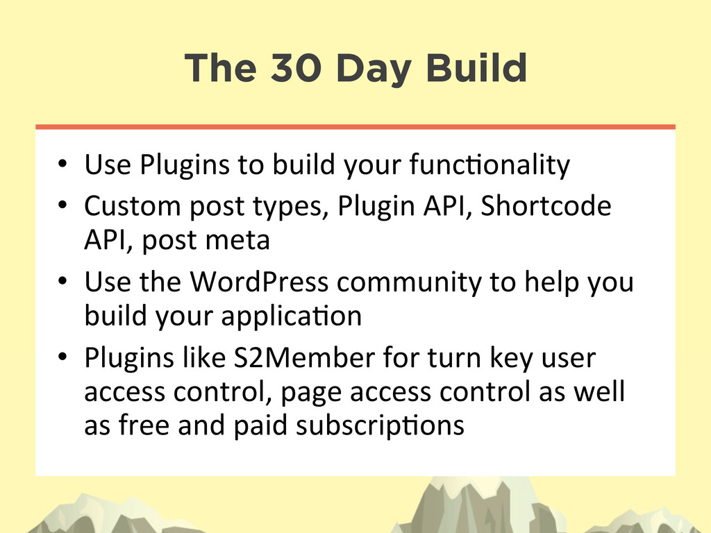 The 30 Day Build • Use Plugins to bui...