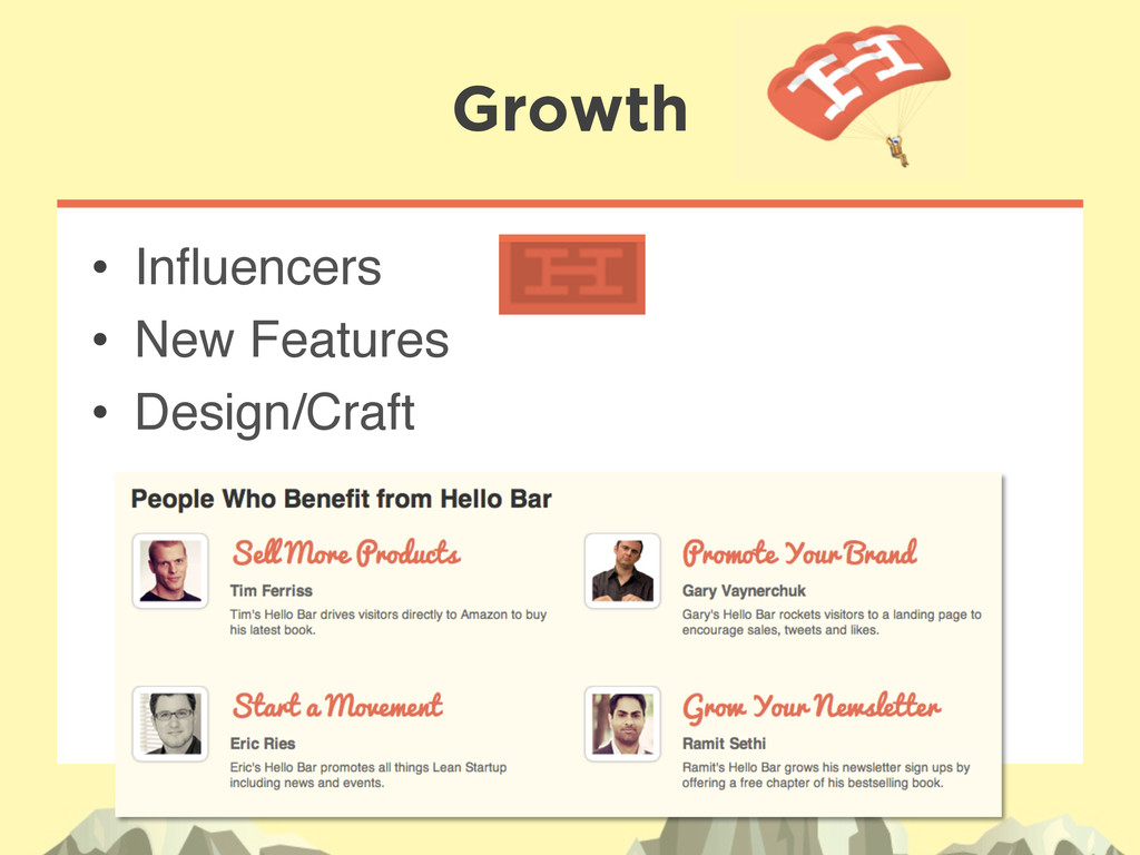 """• Influencers"""" • New Features"""" • Design/Craft..."""