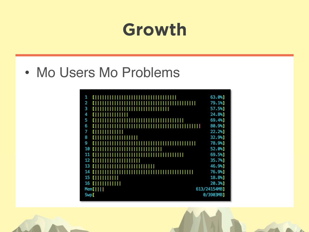 """• Mo Users Mo Problems"""" Growth"""