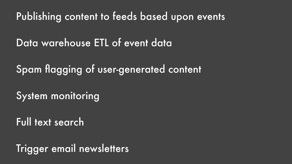 Publishing content to feeds based upon events D...
