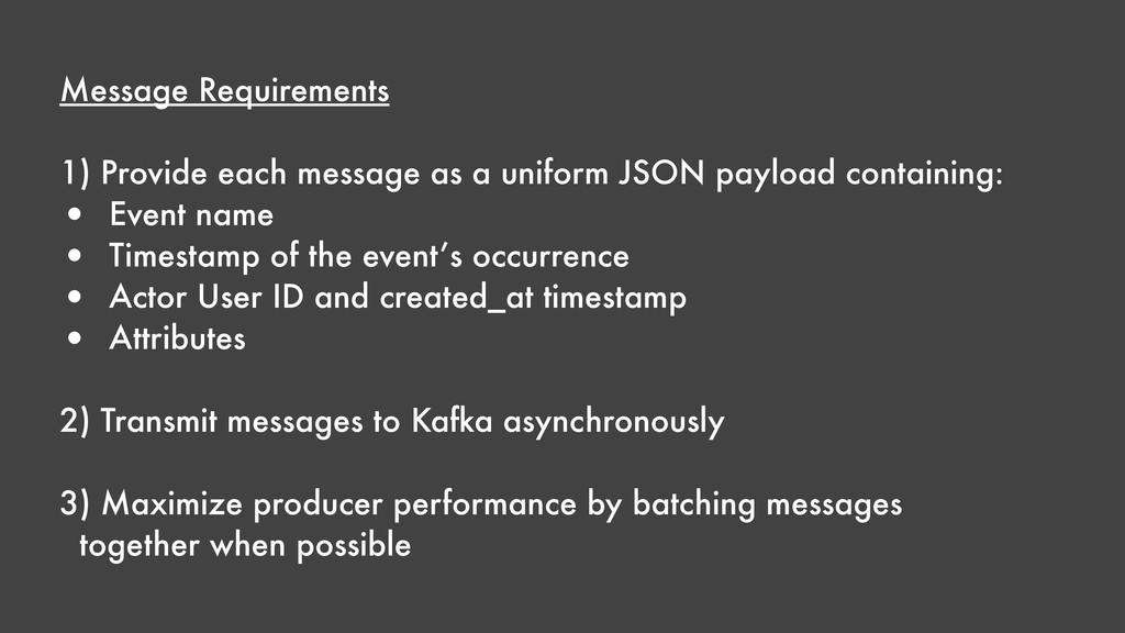 Message Requirements 1) Provide each message as...