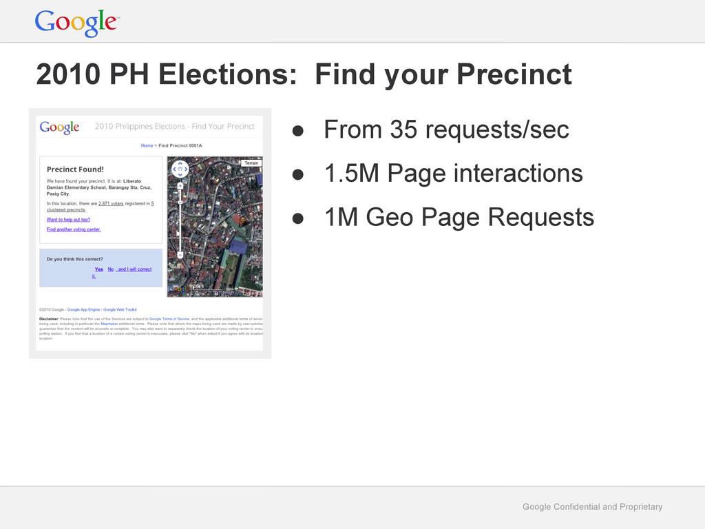 Google Confidential and Proprietary 2010 PH Ele...