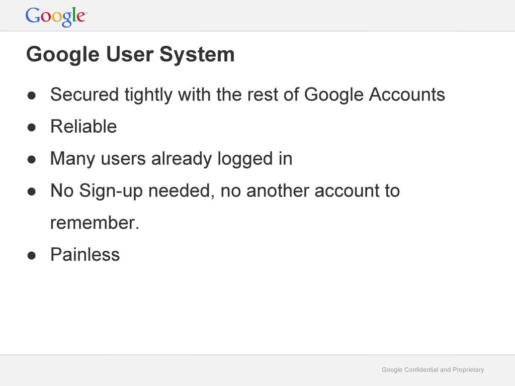 Google Confidential and Proprietary Google User...