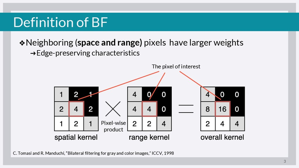 Definition of BF ❖Neighboring (space and range)...
