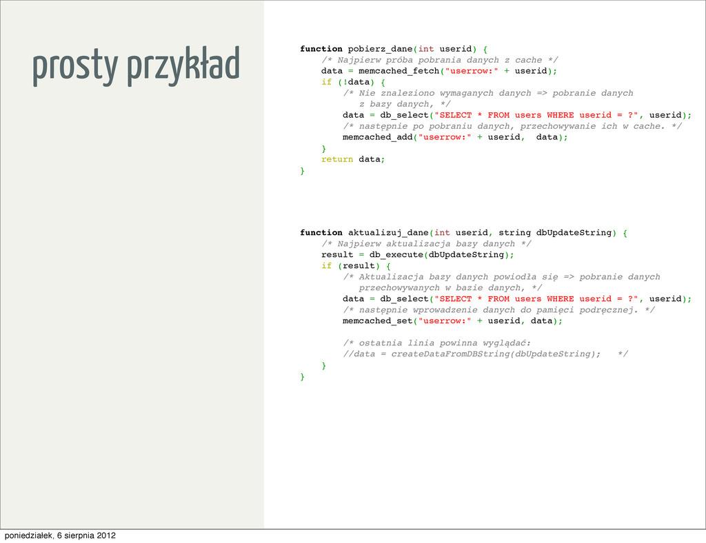 function pobierz_dane(int userid) { /* Najpierw...