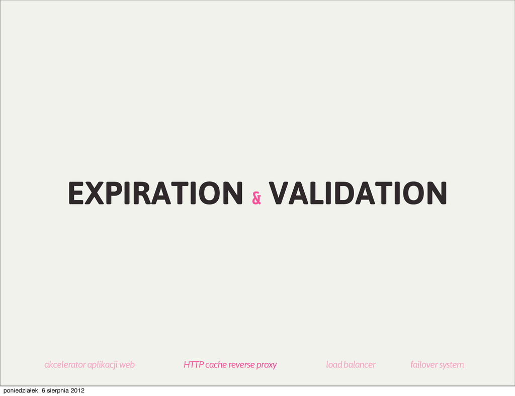 EXPIRATION & VALIDATION load balancer failover ...