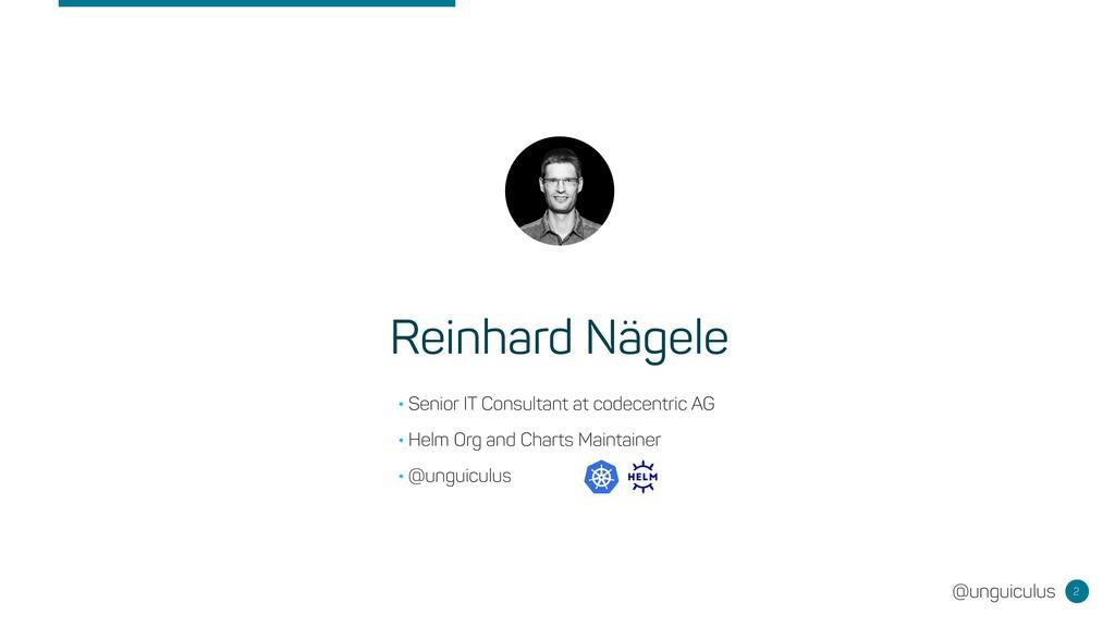 @unguiculus 2 Reinhard Nägele •Senior IT Consul...
